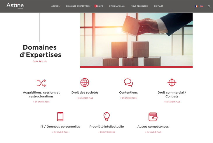 Site internet Astine - Webdesign par l'agence digitale Paris Stargraf