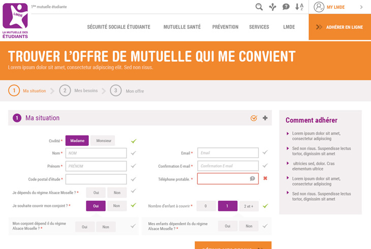 Webdesign LMDE par l'agence digitale Stargraf
