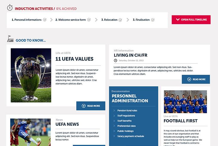 Extranet UEFA - Webdesign & UX Design par l'agence digitale Paris Stargraf