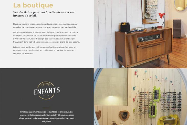 Site internet Vue des Bains - Webdesign par l'agence digitale Paris Stargraf