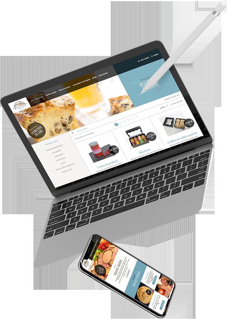 Site E-commerce Pignol traiteur par l'agence web Stargraf