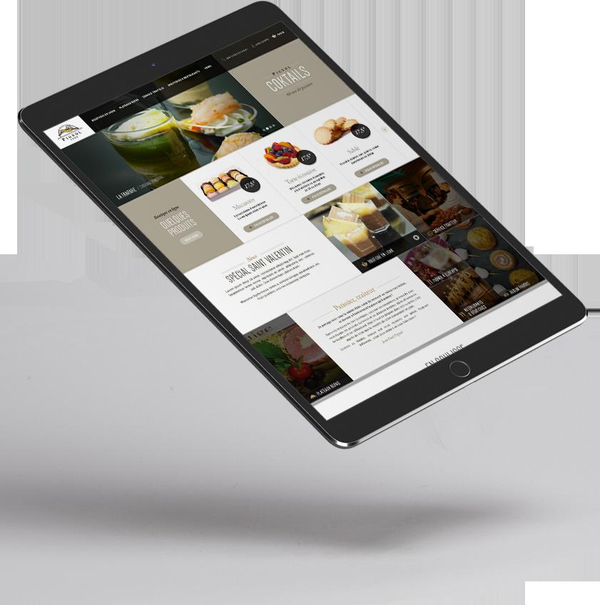 Site e-commerce Pignol Traiteur développé par l'agence web lyon Stargraf