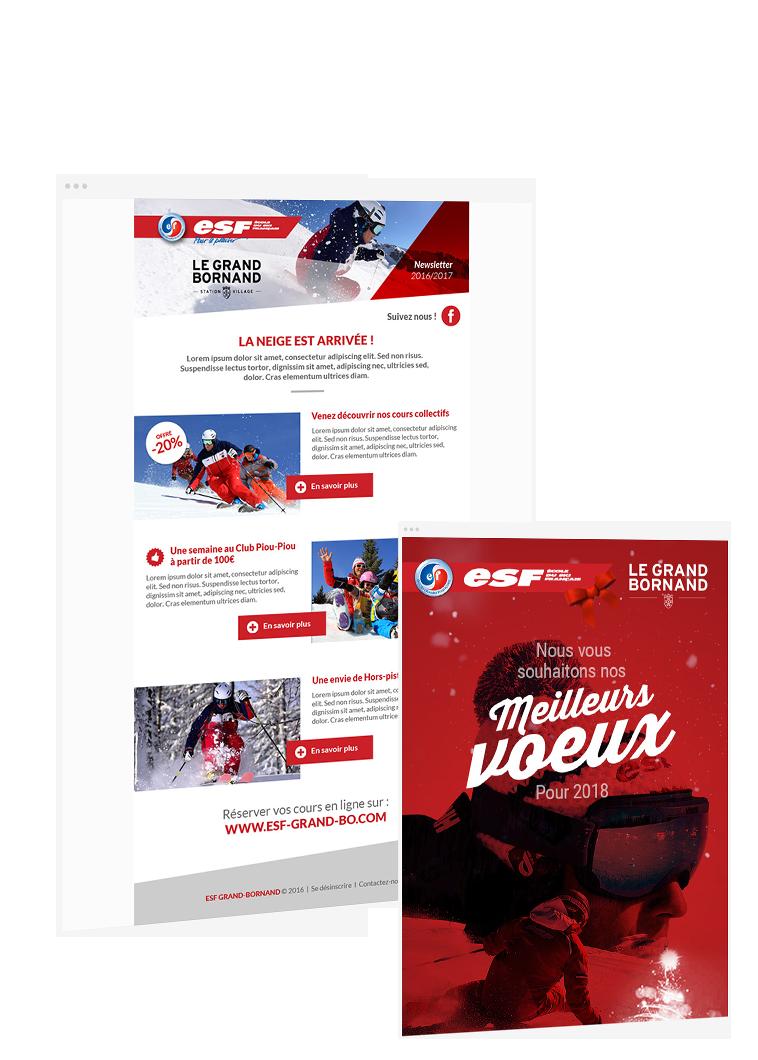 Emailing ESF par l'agence web Lyon stargraf