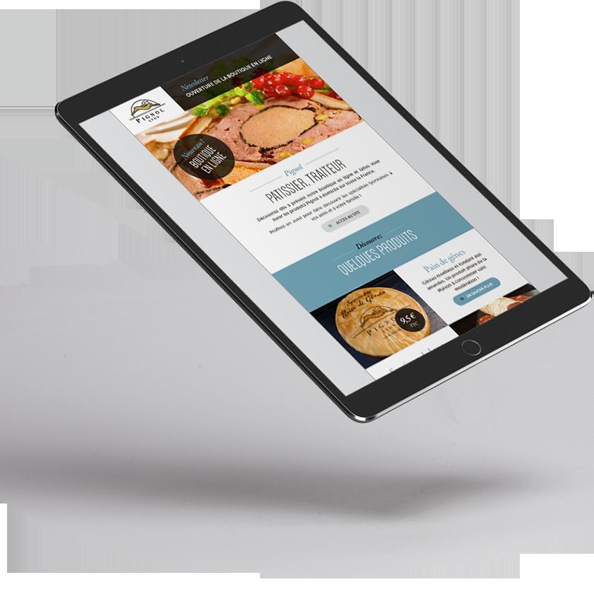 e-commerce mobile Pignol traiteur par 'lagence digitale Stargraf