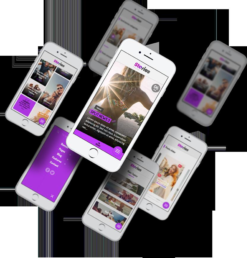 Stories sur mobile de site internet développées par l'agence Web Stargraf