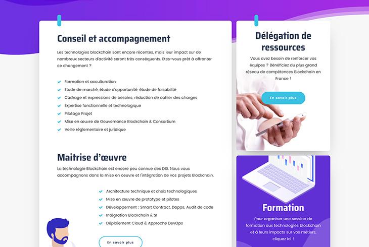 Création du site Blockchain-EZ par l'agence de communication digitale Lyon Stargraf