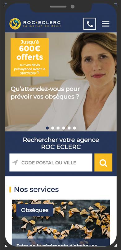 Refonte du site Roc Eclerc Prévoyance par l'agence de communication digitale Lyon Stargraf